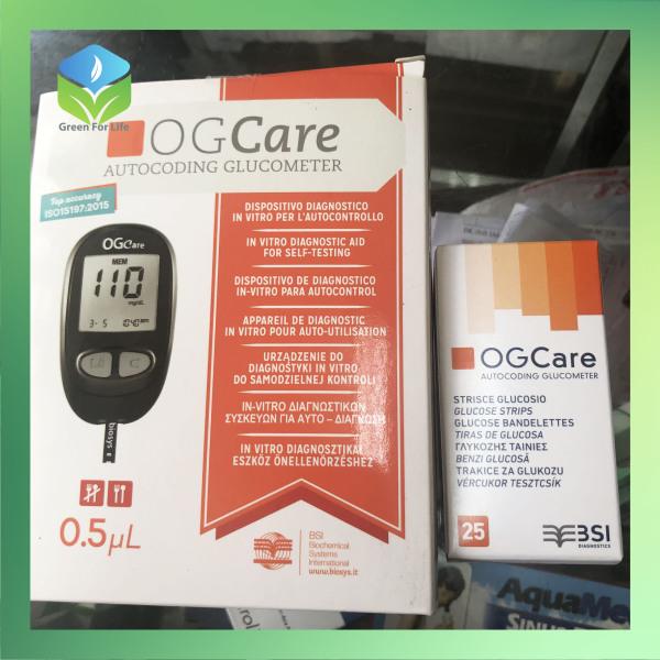 Nơi bán Máy đo đường huyết OGCare hàng chính hãng, sản xuất tại Ý, độ chính xác cao, bảo hành 5 năm, có lưu kết quả theo dõi liên tục, tặng kèm bộ 25 que thử trị giá 200.000