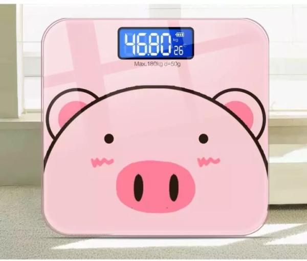 [BẢO HÀNH 12 THÁNG] Cân điện tử, cân sức khoẻ heo hồng tải trọng 180kg nhập khẩu