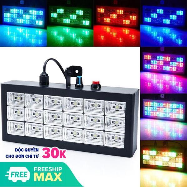 Đèn sân khấu 18 led cảm ứng nhạc (nhiều màu)