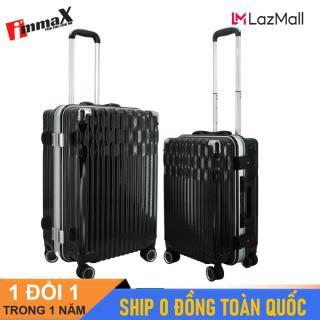 Bộ 2 vali nắp gập immaX A19 size 20inch + 24inch Bộ vali khung nhôm thumbnail