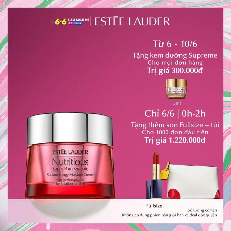 Kem dưỡng tái tạo năng lượng Estee Lauder Nutritious Super-Pomegranate Radiant Energy Moisture Crème 50ml giá rẻ