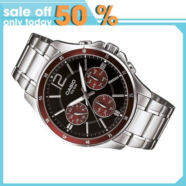 Đồng hồ nam dây thép không gỉ Casio Anh Khuê MTP-1374D-5AVDF
