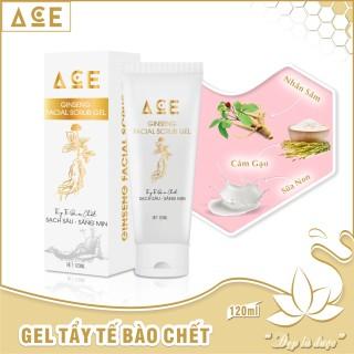Gel tẩy tế bào chết ACE cho da mặt tinh chất nhân sâm sữa non 120ml thumbnail