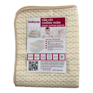 Tấm lót chống thấm cho bé cao cấp Organic Cotton Size 70x120 cm. Miếng lót chống thấm cho trẻ sơ sinh, dùng để trải giường, củi, có thể sử dụng cho phụ nữ và người già. 4 lớp, mềm mại, thoáng khí, siêu thấm hút, có thể giặt. thumbnail