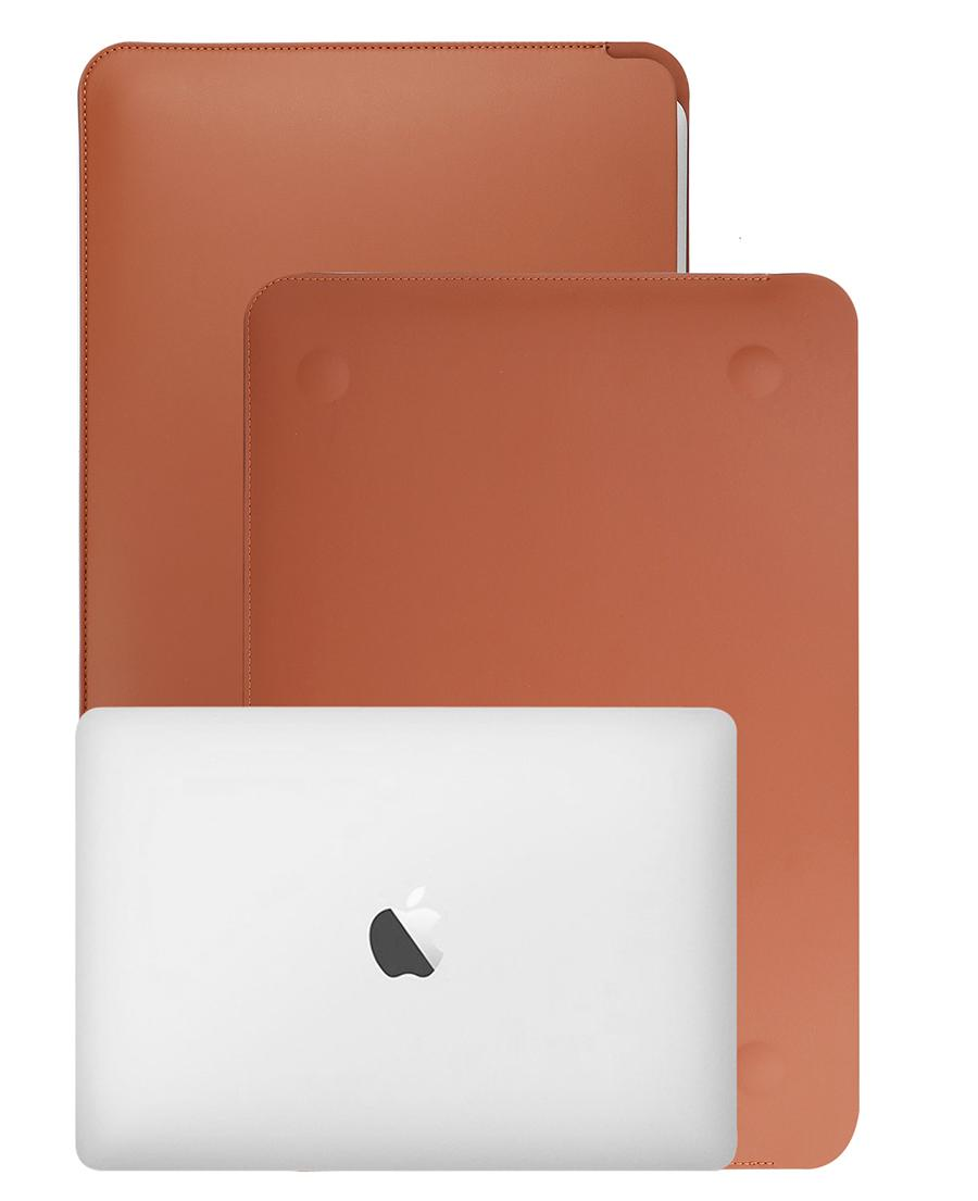 Bảng giá Túi da đựng, chống sốc Macbook + Laptop 13inch màu nâu da bò Phong Vũ