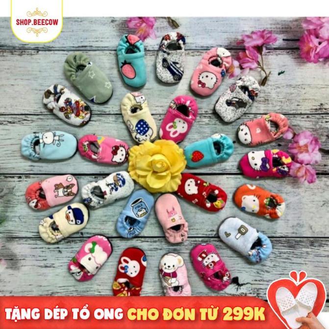 [Cực Rẻ] Combo 5 Đôi Giày Nỉ Tập Đi Hoặc Đi Chơi Cho Bé Trai- SHOPBEECOW giá rẻ