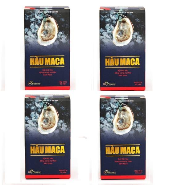 Bộ 4 hộp Viên Uống Tăng Cường Sinh Lý Nam Giới HÀU MACA 30 viên x 4 nhập khẩu