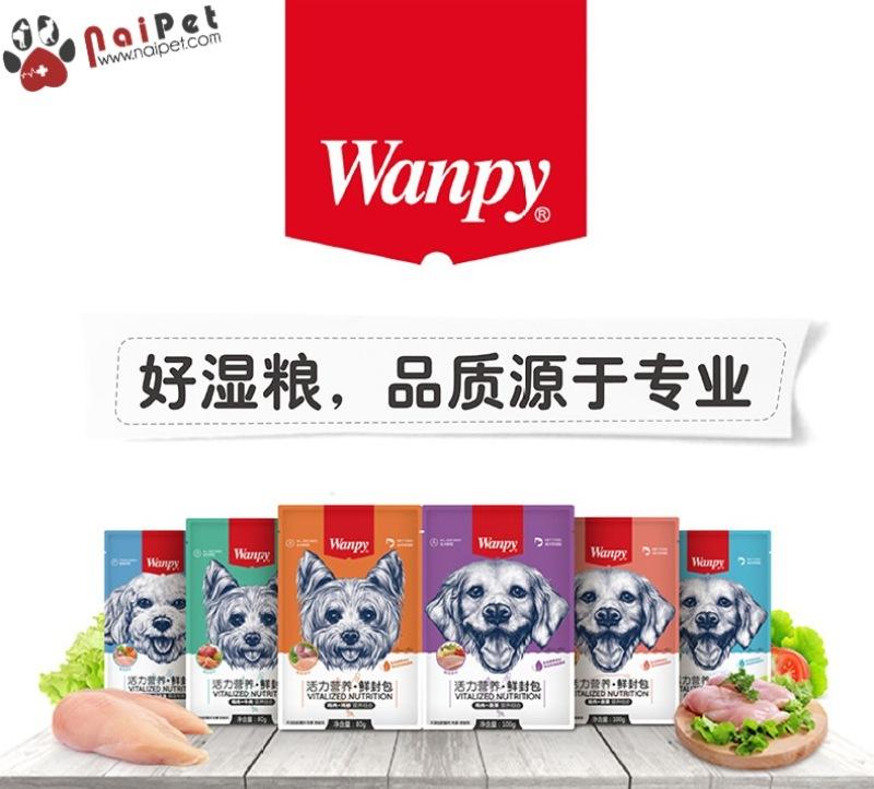 Thức Ăn Dinh Dưỡng Cho Chó Súp Thịt Gà Bò Heo Rau Củ Wanpy