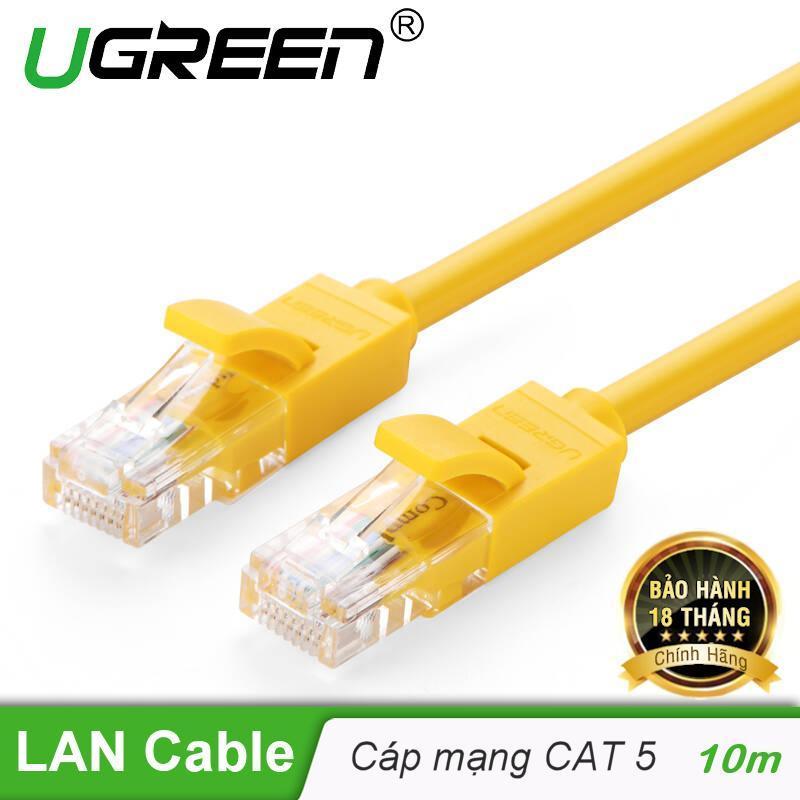 Bảng giá Cáp mạng đúc sẵn 2 đầu Cat 5 dài 10M Ugreen NW103 30642 Phong Vũ