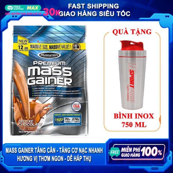 [FREE SHAKER INOX 750ML] Sữa tăng cân tăng cơ nạc Premium Mass Gainer của MuscleTech bịch 5.4 kg dễ hấp thu, không kén người dùng cho người gầy kén ăn, không hấp thụ được thức ăn tự nhiên