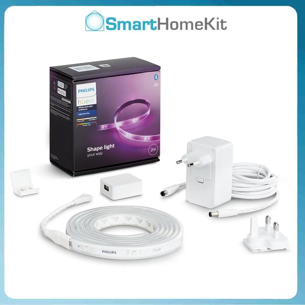 Bảng giá Đèn LED dây Philips Hue Lightstrip Plus Base pack 2 mét Bluetooth 16 triệu màu   Đã bao gồm nguồn, dễ lắp đặt, có thể đồng bộ ánh sáng với  nhạc, game, Phim