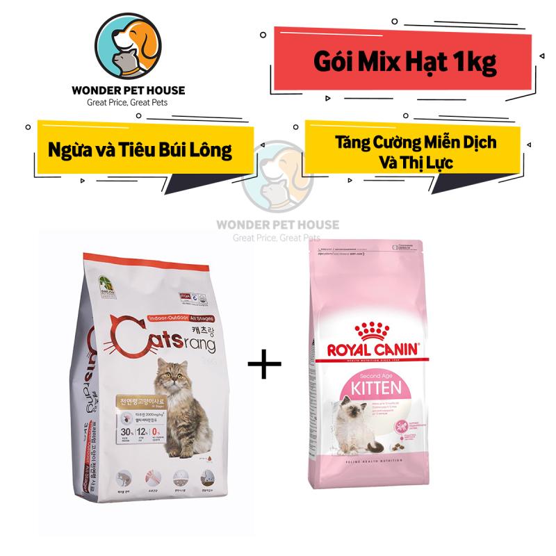 [HẠT KHÔ] GÓI MIX CATSRANG CATSEYE CANIN (Gói chia 1kg) - Thức ăn mèo Tiêu Búi Lông - Tăng Cường Hệ Miễn Dịch - CATRANG/ CATS RANG/ CAT EYE / ROYAL CANIN