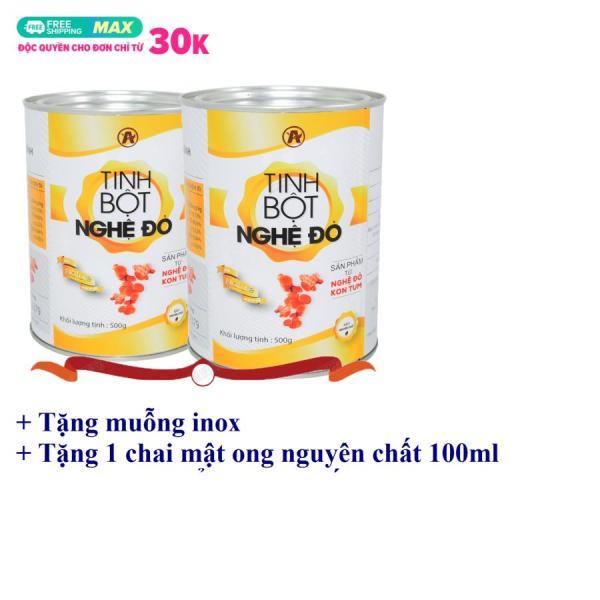 [1kg] Tinh bột nghệ đỏ An Bình (2 lon, mỗi lon 500gr)+ {TẶNG KÈM chai mật ong tinh khiết Nano 100ml}