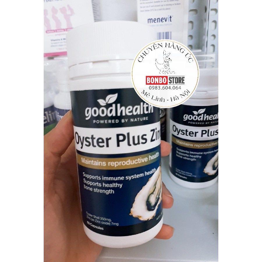 Tinh Chất Hàu Oyster Plus Good Health 60 Viên (Xuất Xứ: Úc) nhập khẩu
