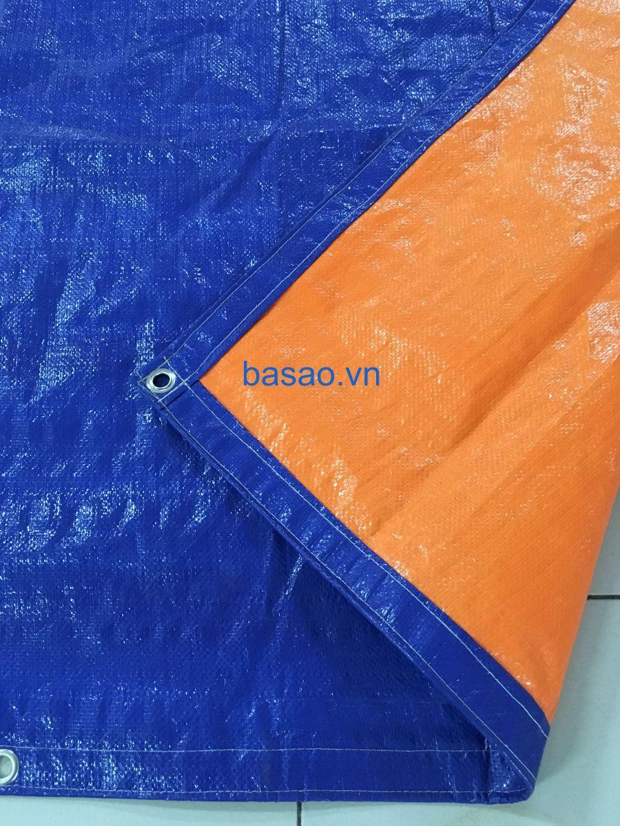 Tấm bạt che nắng mưa may sẵn, màu xanh cam, kích thước 3x4m, không thấm nước.