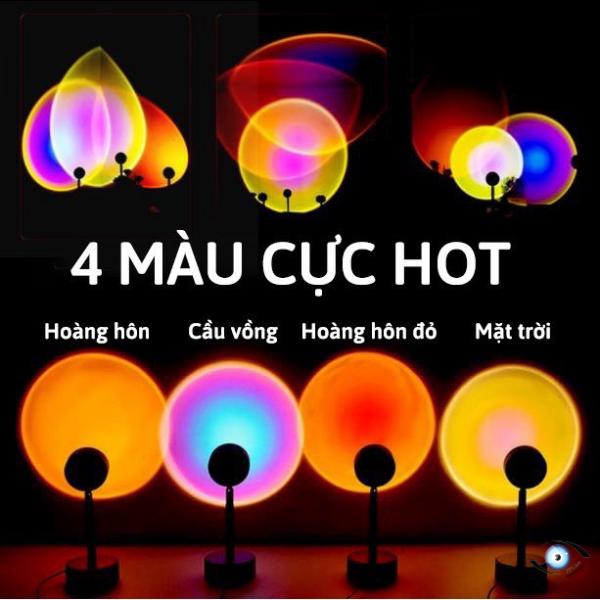 [Đèn sống ảo đổi 16 màu, loại mới có thể kéo dài đến 36cm] hoàng hôn tiktok sunset, sunset red, rainbow trang trí, chụp ảnh sống ảo, quay video, livestream