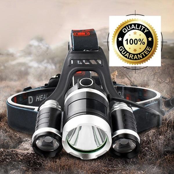 Bảng giá Đèn đeo đầu 3 bóng Công nghệ LED XML Cree T6 Cực HOT hiện nay - Đèn pin đội đầu,đeo trán 2 pin sạc 3 bóng led siêu sáng chống nước.