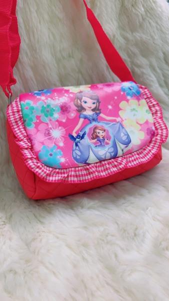 Giá bán Túi vải công chúa Elsa dễ thương cho bé gái có dây đeo chéo