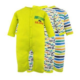 Set 3 bộ body Suit dài tay Baby Gear hàng xuất dư đẹp cho bé trai thumbnail