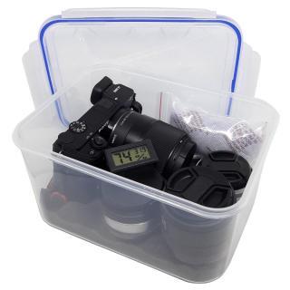 Combo hộp chống ẩm máy ảnh, 1 ẩm kế điện tử, 100gram hạt hút ẩm xanh - dung tích 3,6 lít tặng mút xốp thumbnail