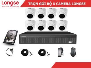 Combo bộ kit Longse 8 mắt dome nhựa 1080P-LITE thumbnail