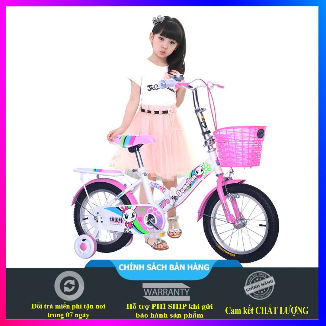 Mua Xe đạp trẻ em cao cấp dành cho bé gái từ 4 đến 9 tuổi - màu hồng