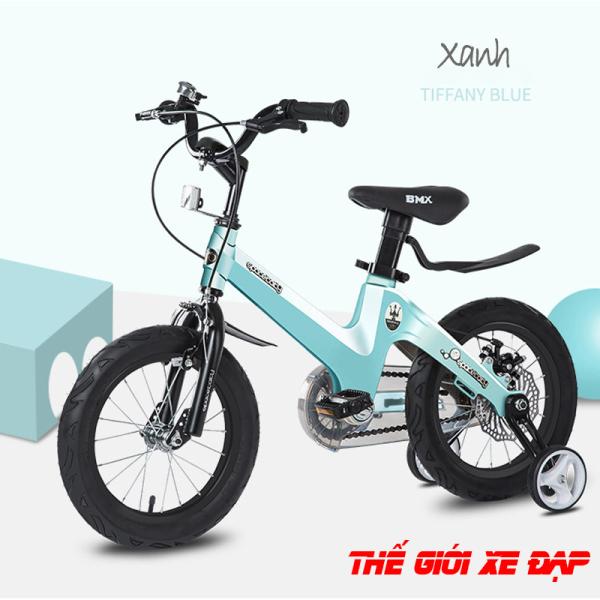 Mua Xe đạp trẻ em cao cấp SpaceBaby size 16 inchs cho bé từ 5 đến 8 tuổi khung hợp kim Magiê đúc nguyên khối, phanh đĩa an toàn