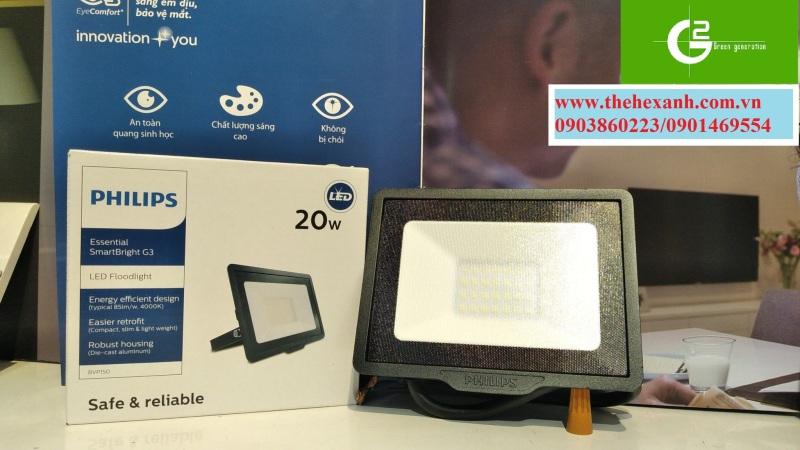 Đèn pha Philips LED chống nước chuẩn IP65 BVP150 20W SWB CE (Trắng/Vàng/Trung tính)