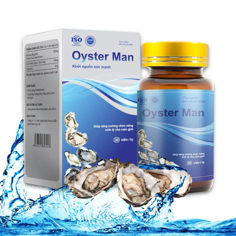 Tinh Chất Hàu Oyster Man - Hộp 30 Viên Tăng Cường Sinh Lý Nam Giới, Bổ Sung Kẽm Và Khoáng Chất