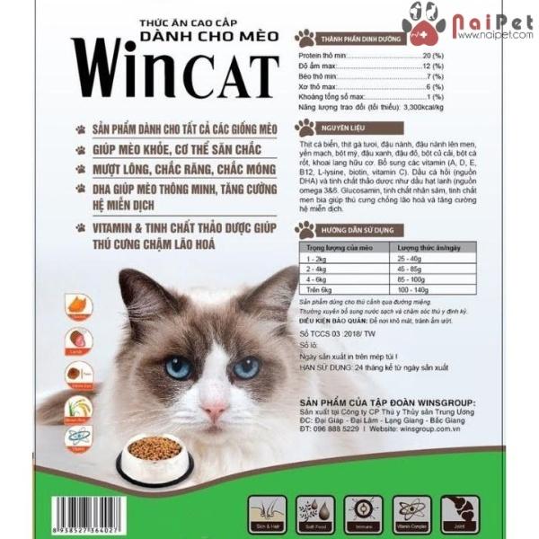 Thức Ăn Hạt Dành Cho Tất Cả Các Giống Mèo Wincat