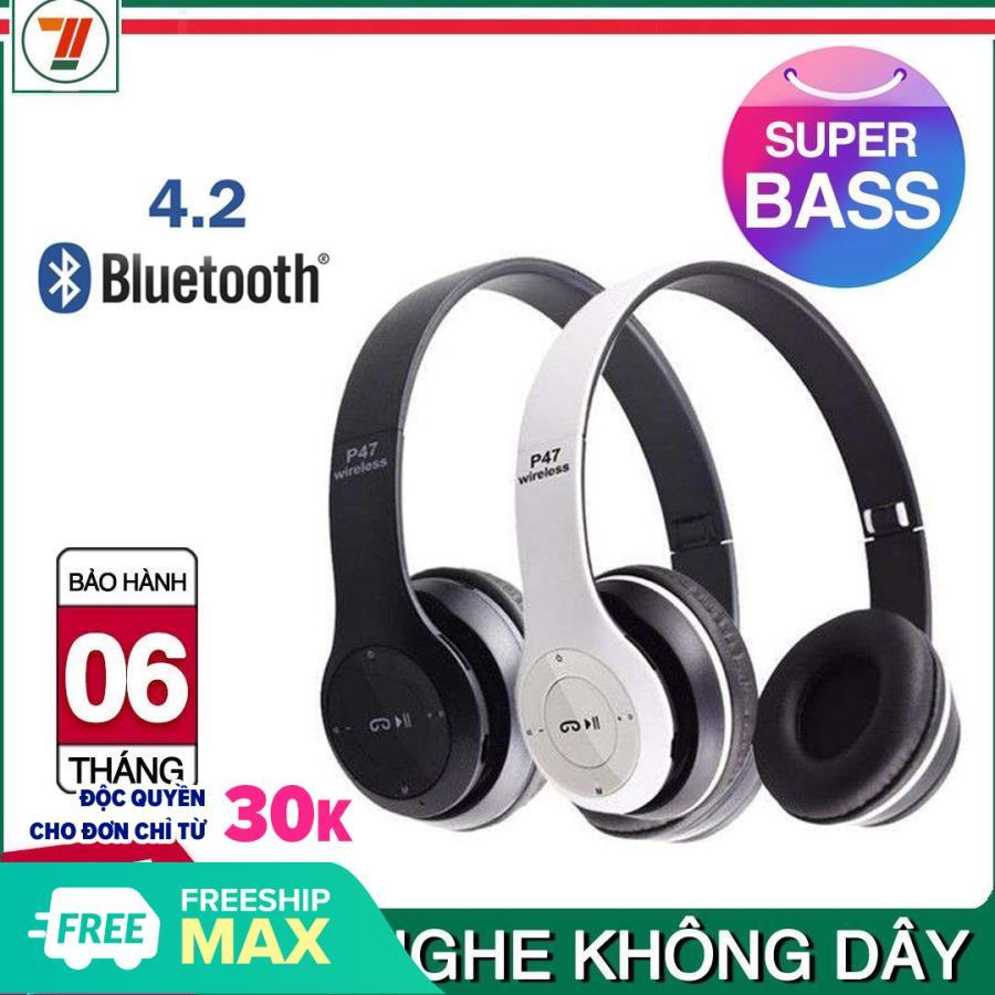 Tai nghe chụp tai Bluetooth cao cấp có khe cắm thẻ nhớ P47