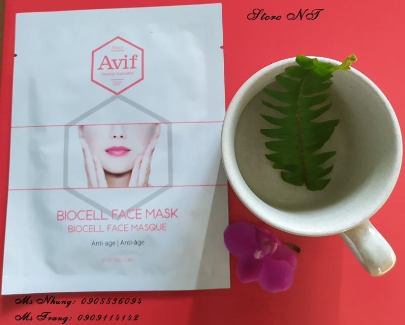 003.MẶT NẠ AVIF BIO CELL ANTI AGE FACE MASK nhập khẩu
