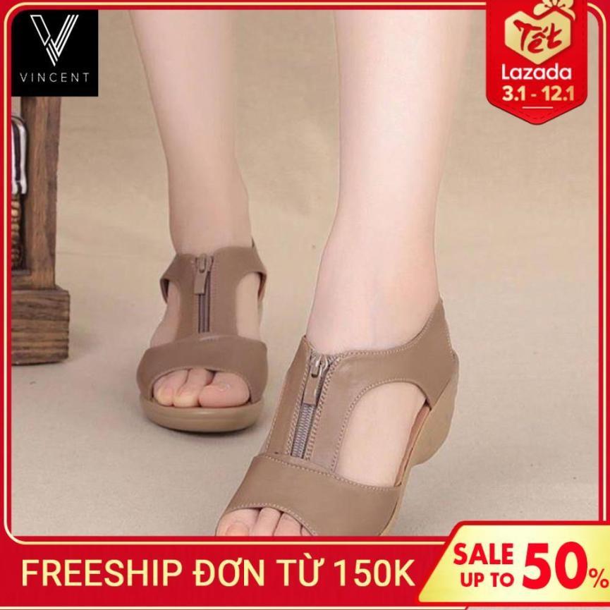 Giày Da Cao Gót Ôm Chân, Thoáng Mát Da Mềm Dáng Xinh Đế Cao 5cm giá rẻ