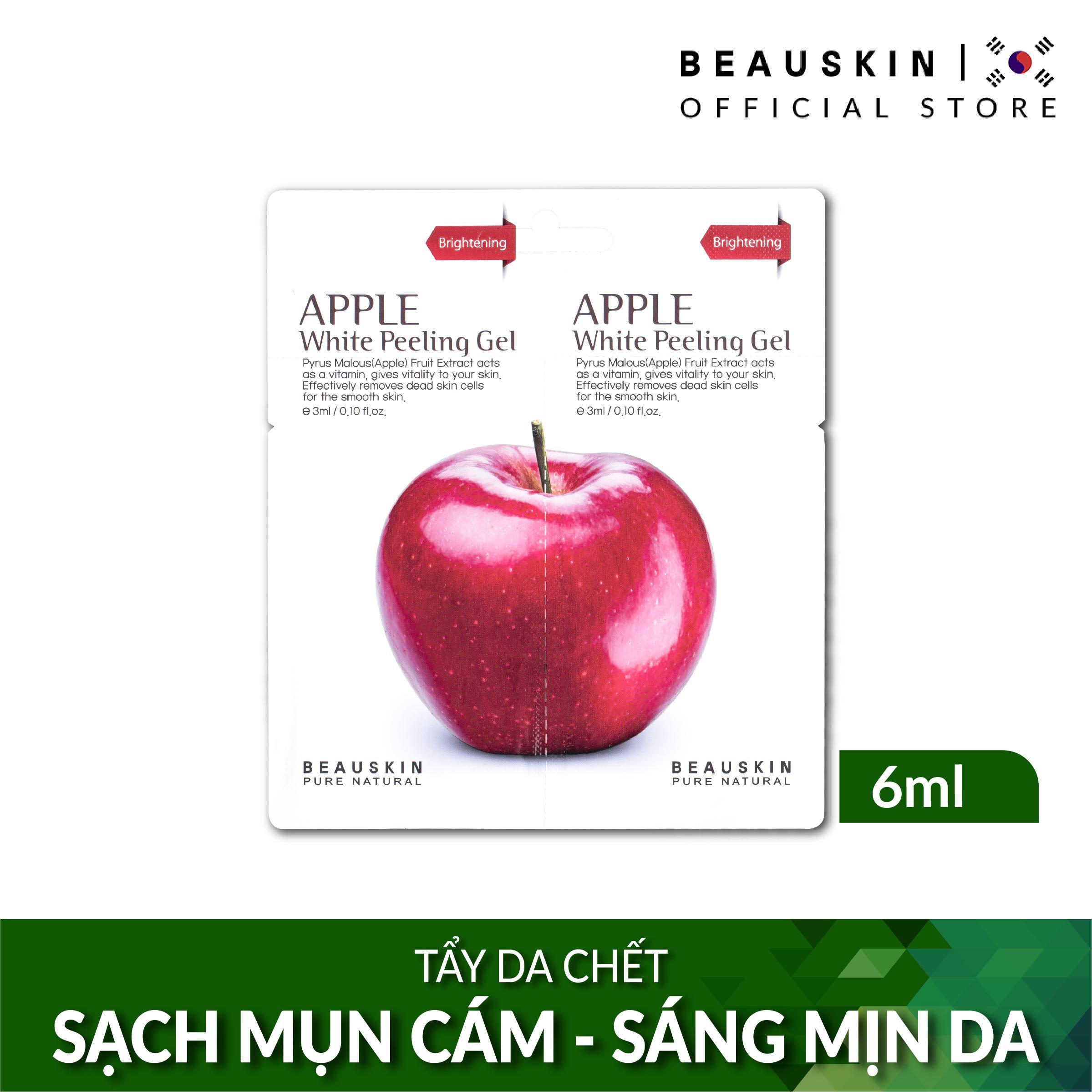 Tẩy da chết SÁNG DA SẠCH MỤN Beauskin Apple White Peeling Mini Size chính hãng