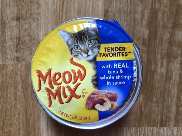Meow mix Tender Favorites® With Real Tuna & Whole Shrimp in Sauce