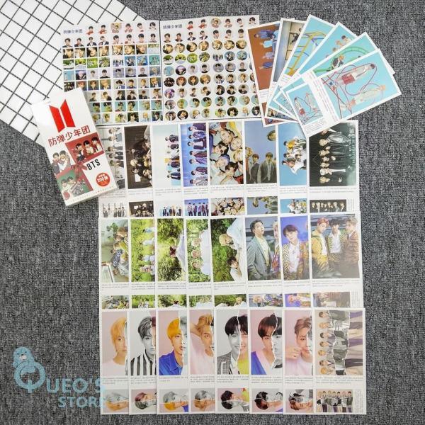 Hộp postcard BTS, JungKook (30 postcard + 30 lomo + 120 hình dán)