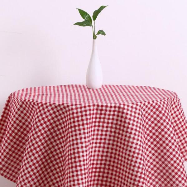 Khăn trải bàn Mary Decor - Họa tiết Caro đỏ - Đủ kích thước