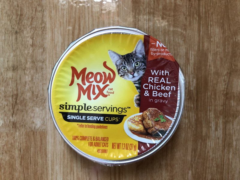 Meow Mix Simple Servings With Real Chicken And Beef In Gravy