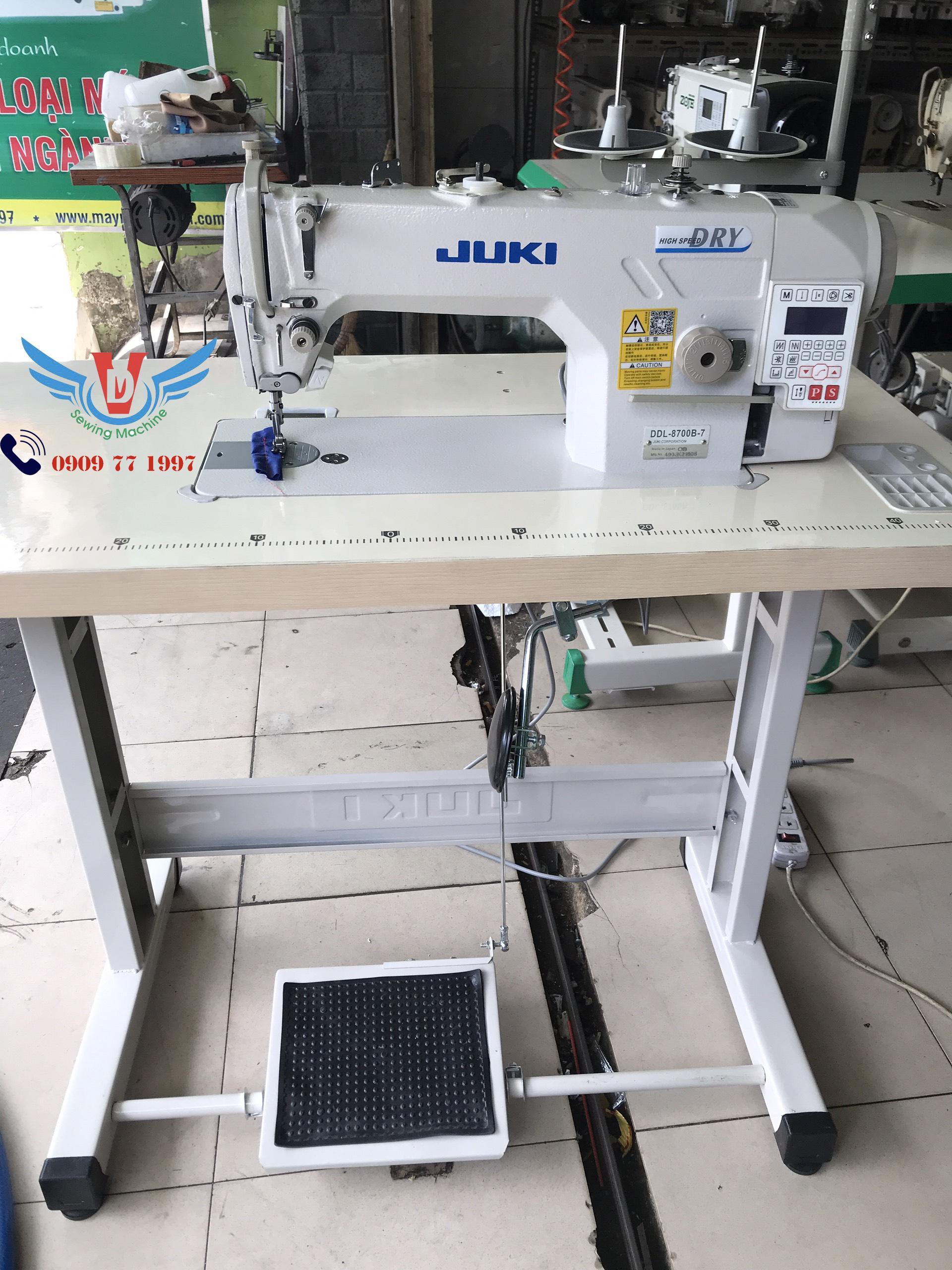 Máy may công nghiệp 1 kim JUKI điện tử mới 100% bh 24 tháng