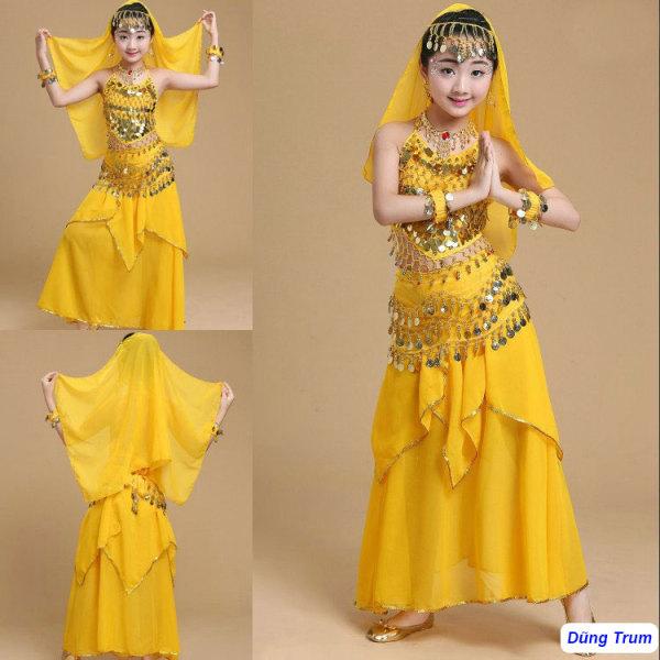Giá bán Trang phục váy Ấn độ múa nổi bật cho bé mẫu Váy kết hợp Áo yếm