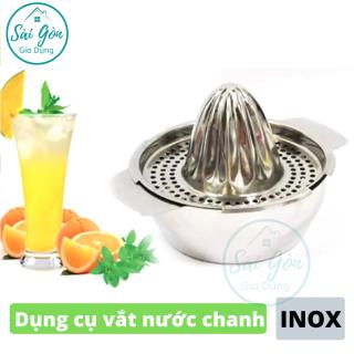 Dụng cụ vắt nước chanh và ép hoa quả trái cây bằng tay - đồ vắt cam - đồ vắt nước chanh - dụng cụ ép nước chanh bằng INOX cao cấp SG-EC030 thumbnail