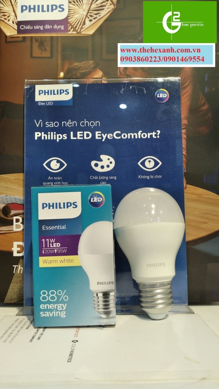 Bóng đèn LED Philips ESS LEDBulb 11W E27 6500K/3000K 230V 1CT/12 VN