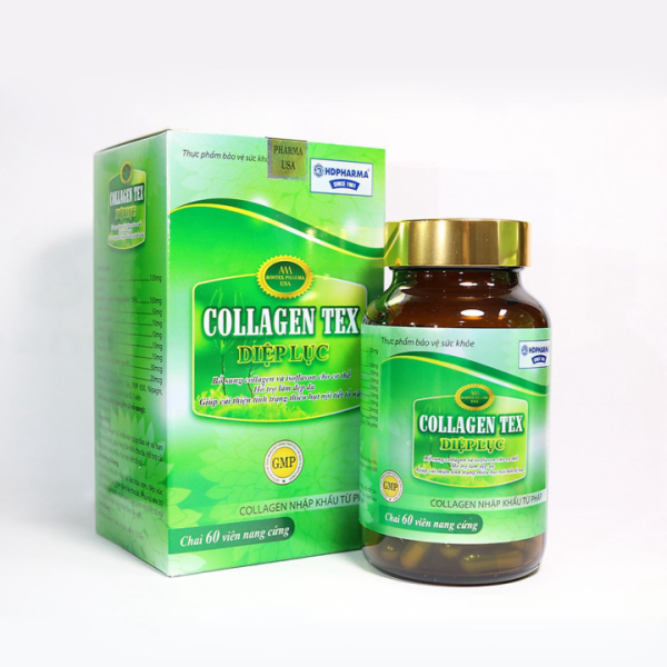 (Chính hãng) Diệp lục collagen tex bổ sung isoflavon sữa ong chúachống lão hóa cải thiện nếp nhăn - hộp 60v, sản phẩm chất lượng, đảm bảo an toàn sức khỏe người sử dụng, cam kết hàng giống hình giá rẻ