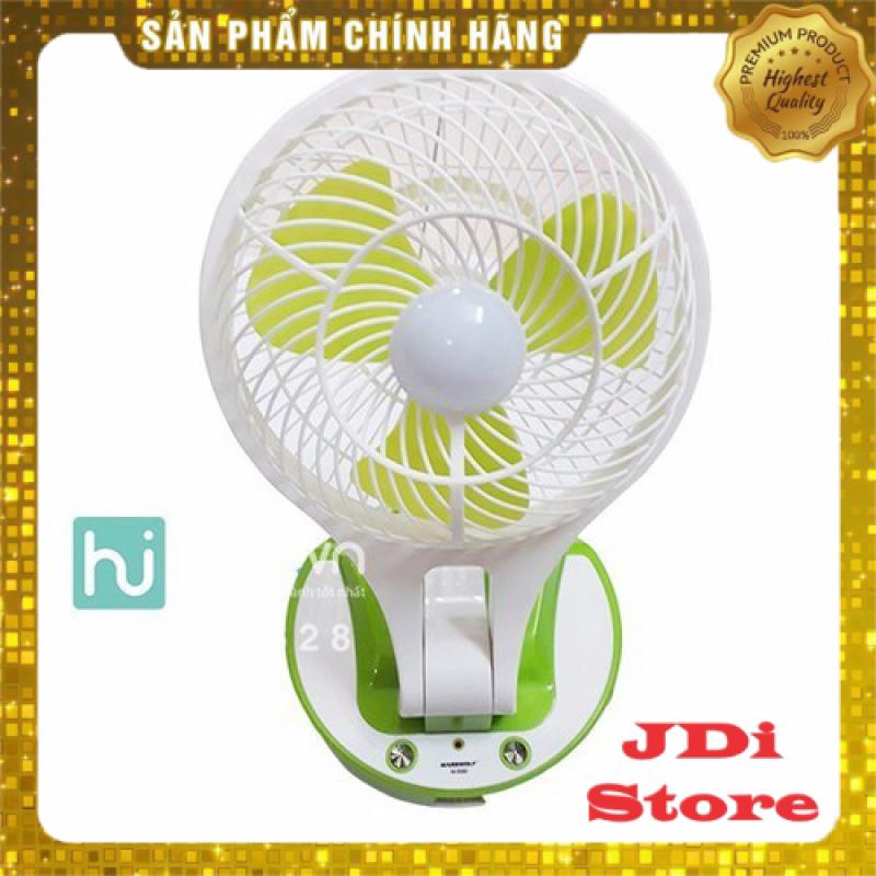 ) Quạt tích điện kèm đèn led siêu sáng, Quạt sạc tích điện mini fan siêu mát, Quạt tích điện mini
