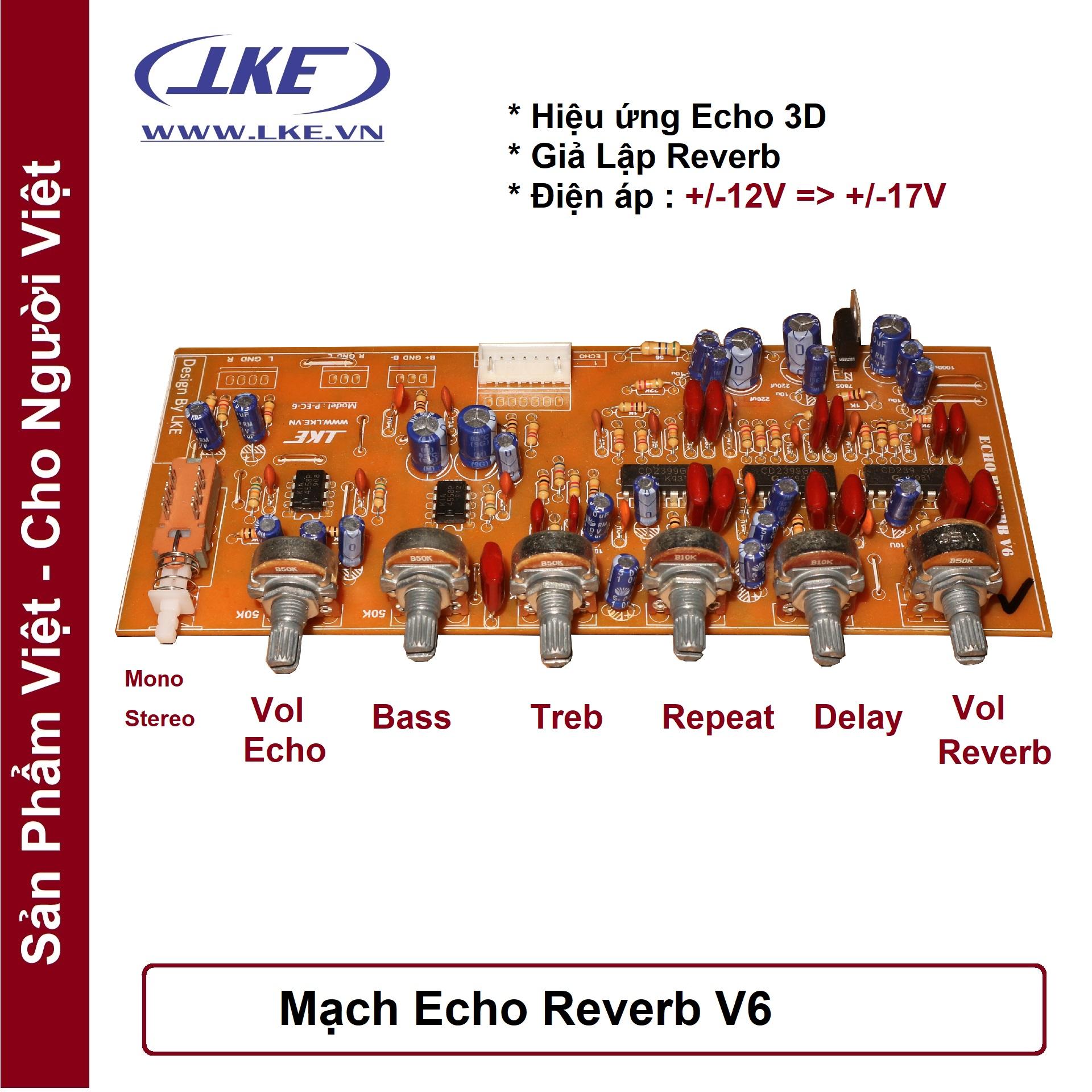 Mạch Echo Reverb V6 Nâng Cấp Ampli Karaoke Giá Tốt Không Nên Bỏ Lỡ