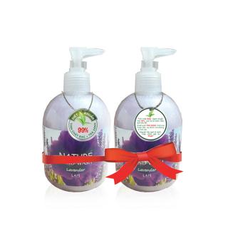 [HCM]Combo 2 chai nước rửa tay thiên nhiên (500ml) Lamcosmé Lavender - Hương hoa oải hương Công thức tinh chất Bạc và trà xanh giúp làm sạch và khử mùi hiệu quả thumbnail