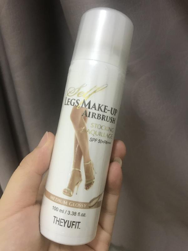 Tất phun Hàn Quốc - Make up chân thần thánh YUFIT Medium 100ml dành cho da thường và da nâu