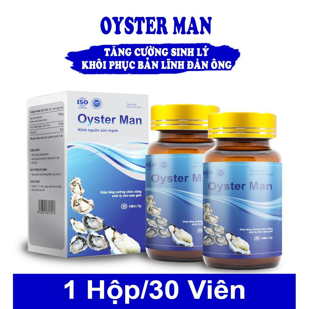 2 Hộp Tinh Hàu Oyster Man Điều Trị Xuất Tinh Sớm, Rối Loạn Cương Dương, Mãn Dục Nam