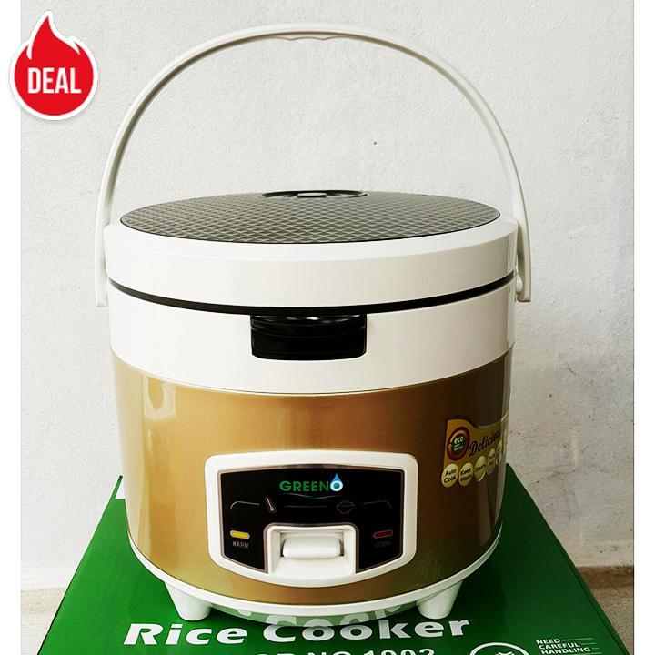 Nồi cơm điện quai xách 1.8L Greeno - Gold