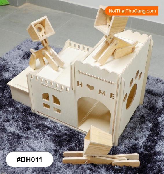 [HCM]Nhà Cho Chó Mèo Bằng Gỗ Hình Lâu Đài Vô Cùng Độc Đáo #DH011- L - Nội Thất Thú Cưng